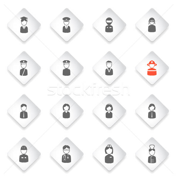 Ocupation simply icons Stock photo © ayaxmr