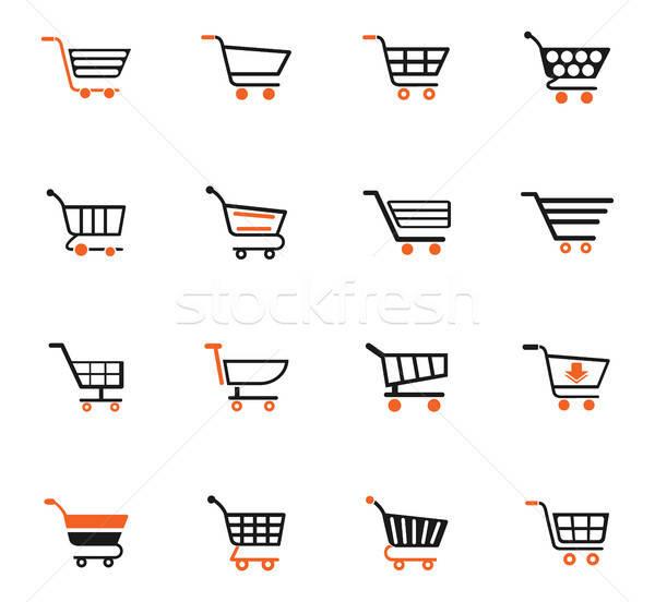 Cesta de la compra iconos de la web usuario interfaz diseno Foto stock © ayaxmr