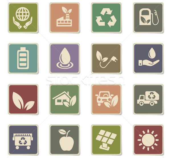 Alternatywa energii web ikony użytkownik interfejs Zdjęcia stock © ayaxmr