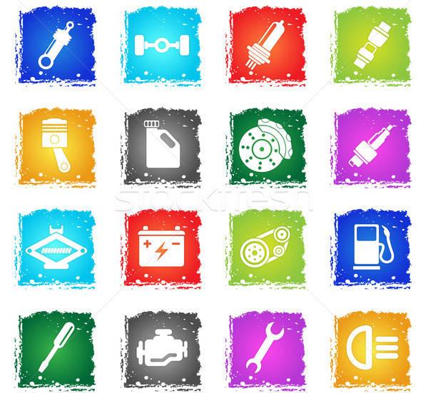 Auto servicio iconos simplemente símbolo grunge Foto stock © ayaxmr
