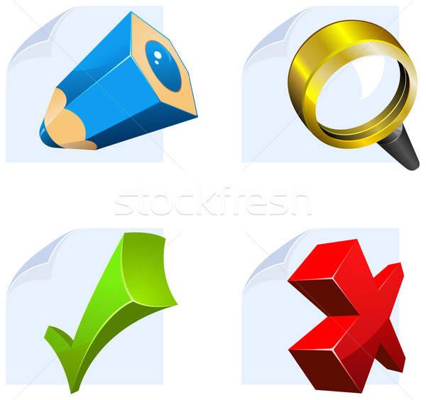 Editor ícones teia usuário interface Foto stock © ayaxmr