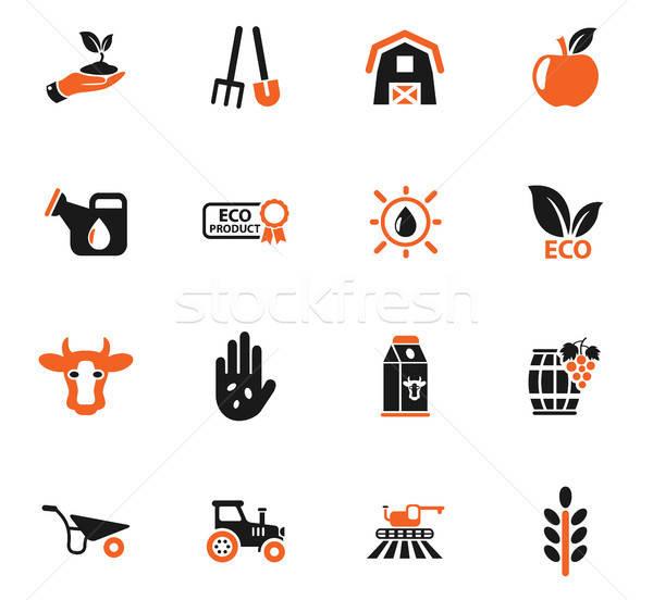 Rolniczy web ikony użytkownik interfejs projektu Zdjęcia stock © ayaxmr
