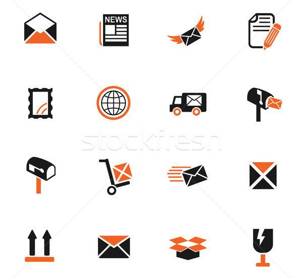Stock fotó: Posta · szolgáltatás · ikon · gyűjtemény · webes · ikonok · felhasználó · interfész