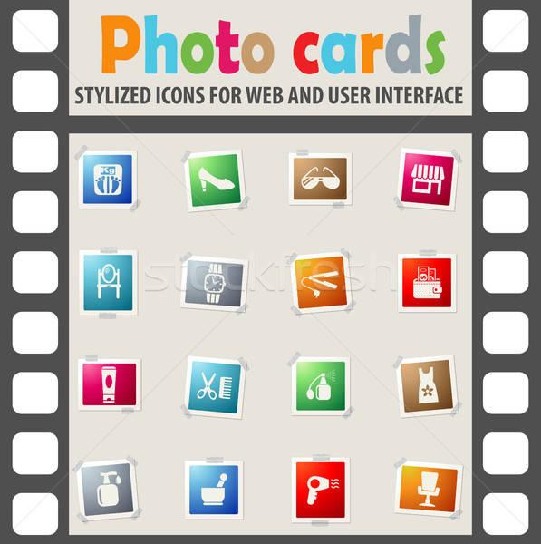 Stockfoto: Schoonheidssalon · web · icons · gebruiker · interface · ontwerp