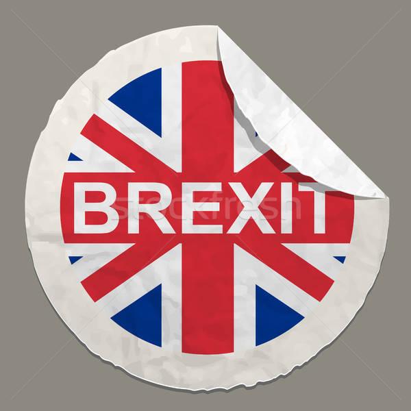 İngilizler referandum kavramlar simge kâğıt etiket Stok fotoğraf © ayaxmr