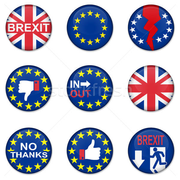Brexit British referendum concept icons Stock photo © ayaxmr
