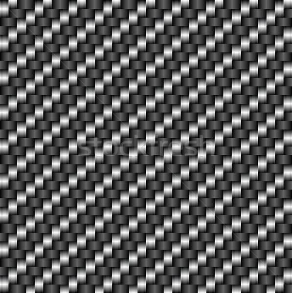 Fibre de carbone modèle industrie horizons textiles carré Photo stock © ayaxmr