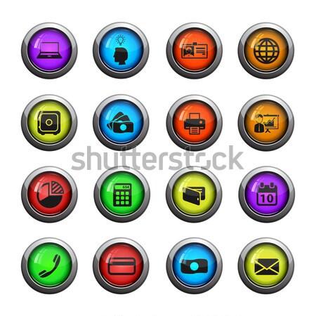 бильярдных вектора иконки веб пользователь Сток-фото © ayaxmr