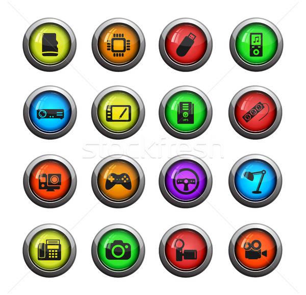 Simplement icônes couleur icône web Photo stock © ayaxmr