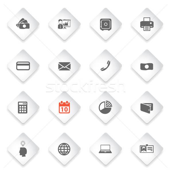 Escritório simplesmente ícones símbolo os ícones do web usuário Foto stock © ayaxmr