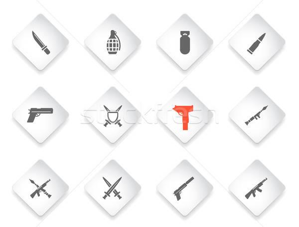 оружием просто иконки веб пользователь интерфейс Сток-фото © ayaxmr