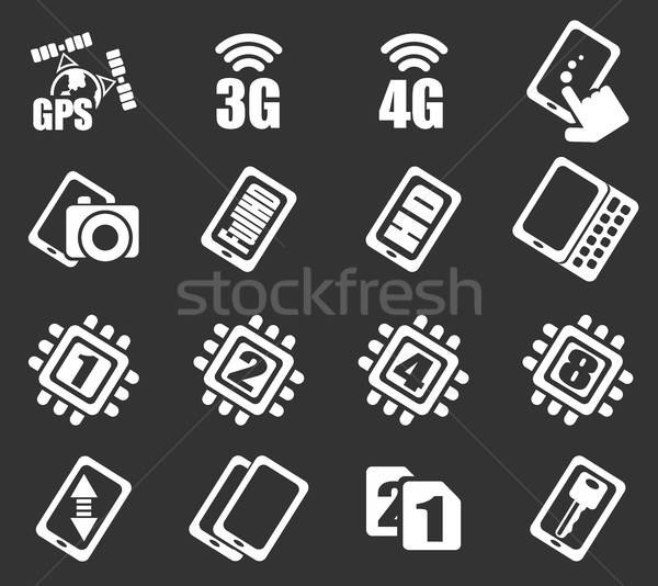Mobile or cell phone, smartphone,  specifications and functions Stock photo © ayaxmr
