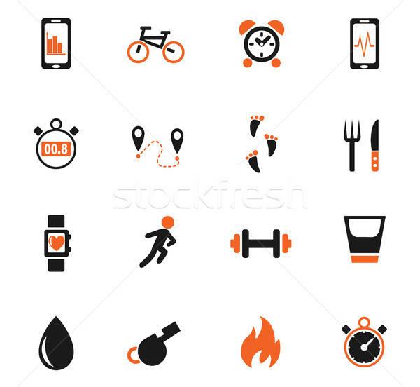 Aplicativos os ícones do web usuário interface Foto stock © ayaxmr