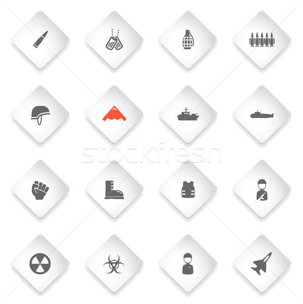 Stock photo: Military simply icons