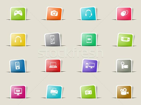 Gadgets simply icons Stock photo © ayaxmr