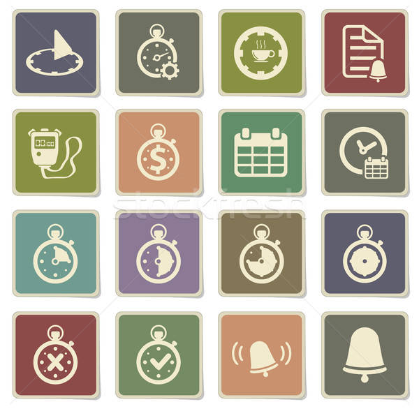 Time simply icons Stock photo © ayaxmr