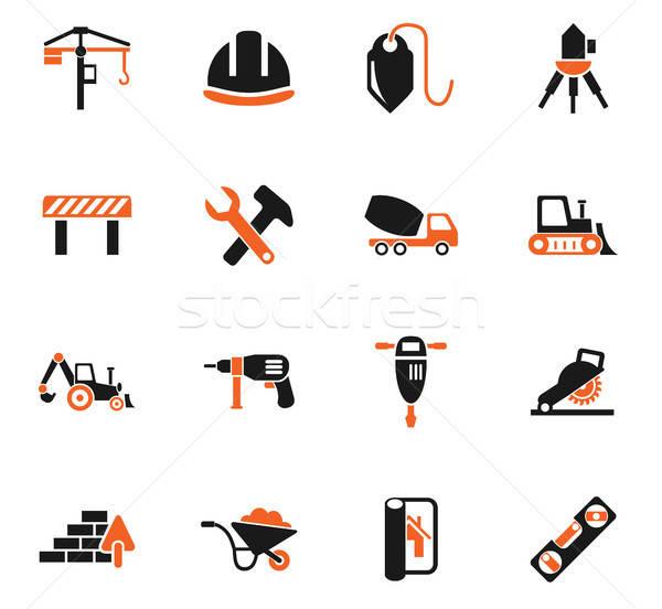 construction icon set Stock photo © ayaxmr