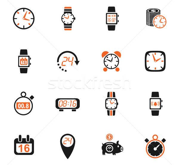 Tijd web icons gebruiker interface ontwerp Stockfoto © ayaxmr