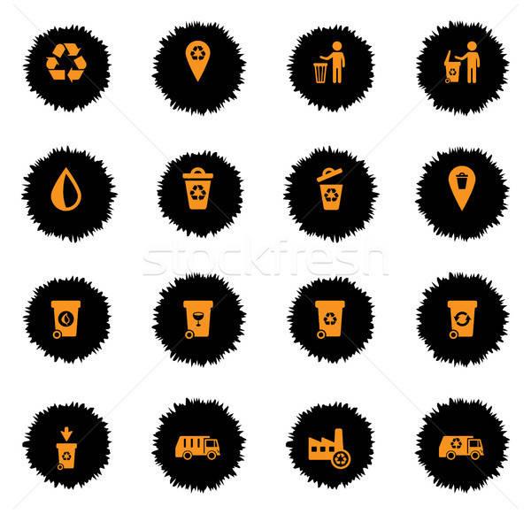 Garbage semplicemente icone web utente Foto d'archivio © ayaxmr