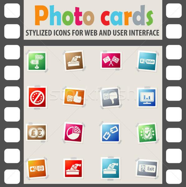 Británico referéndum iconos conceptos ue negocios Foto stock © ayaxmr