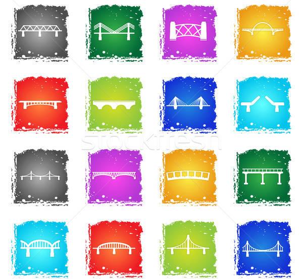 橋 シルエット 単に アイコン グランジ ストックフォト © ayaxmr