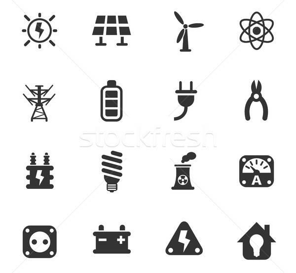 Elektrycznej web ikony użytkownik interfejs projektu Zdjęcia stock © ayaxmr