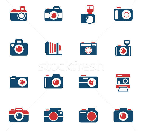 Camera web icons gebruiker interface ontwerp Stockfoto © ayaxmr