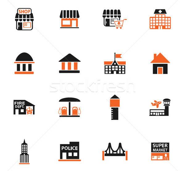Altyapı web simgeleri kullanıcı arayüz dizayn Stok fotoğraf © ayaxmr