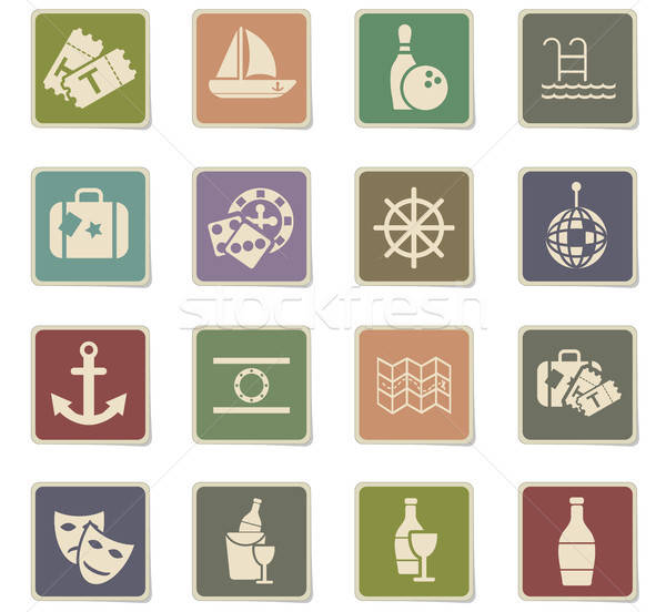 cruise icon set Stock photo © ayaxmr
