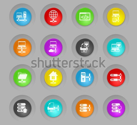 Data analytic and social network icons Stock photo © ayaxmr