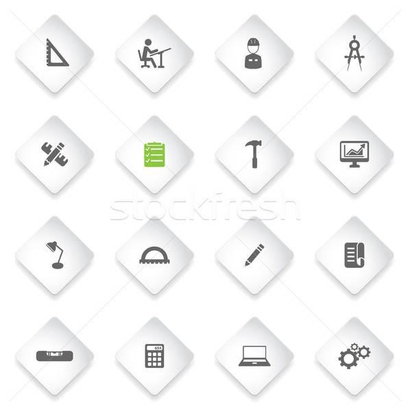 Mérnöki egyszerűen ikonok szimbólum webes ikonok felhasználó Stock fotó © ayaxmr