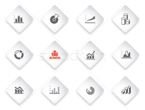 information graphic Icon Set Stock photo © ayaxmr