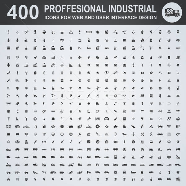 Professional industrial icons Stock photo © ayaxmr
