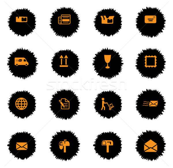 Postar serviço simplesmente ícones vetor teia Foto stock © ayaxmr