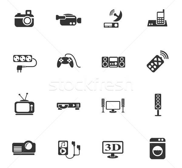 Web ikony użytkownik interfejs projektu Zdjęcia stock © ayaxmr