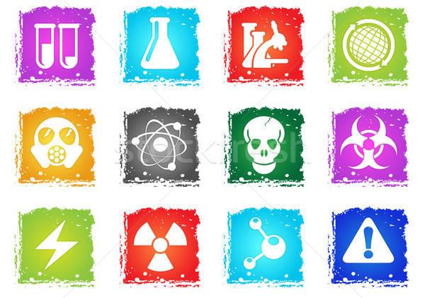 Ciência simplesmente símbolos grunge estilo usuário Foto stock © ayaxmr