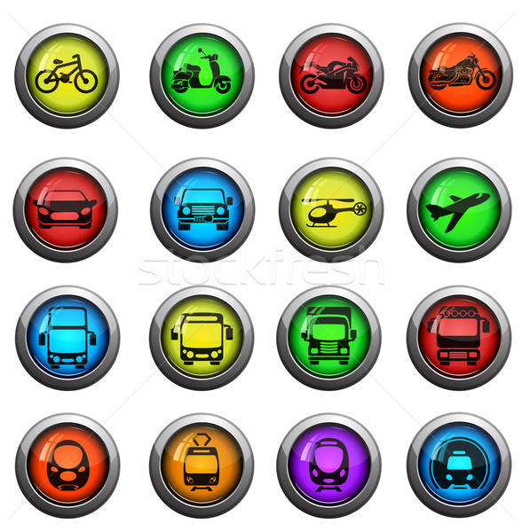 Transport mode icons set Stock photo © ayaxmr