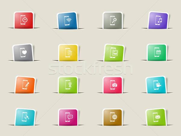 Smartphone simply icons Stock photo © ayaxmr