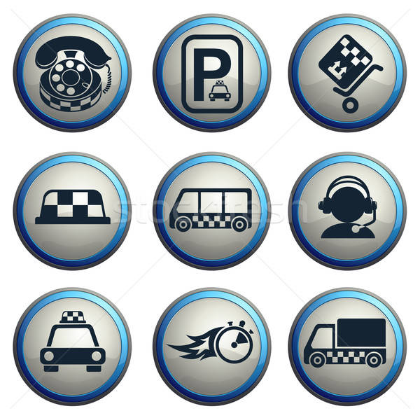 такси услугами вектора иконки веб Сток-фото © ayaxmr