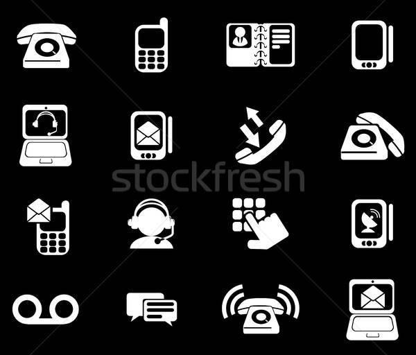 Telefon simgeler sadece semboller web kullanıcı Stok fotoğraf © ayaxmr