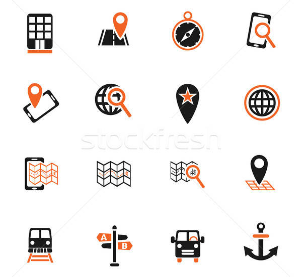 Navegación mapa iconos de la web usuario interfaz Foto stock © ayaxmr