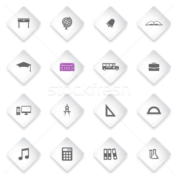 Escuela simplemente iconos símbolo iconos de la web usuario Foto stock © ayaxmr
