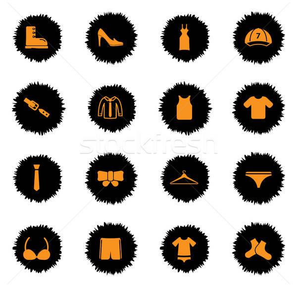 Vestiti semplicemente icone vettore web utente Foto d'archivio © ayaxmr