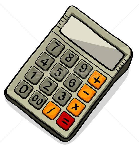 Calculadora vector icono aislado blanco fondo Foto stock © ayaxmr