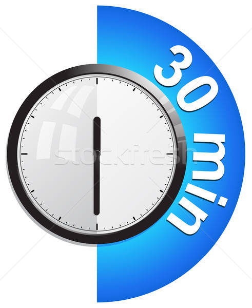 Timer 30 minutes vector illustration Stock photo © ayaxmr