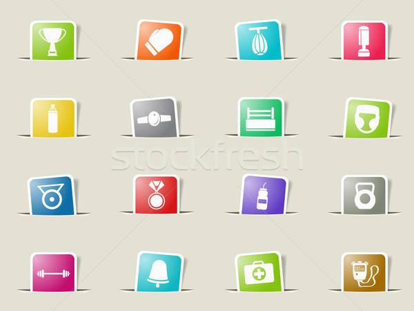 Boxing simply icons Stock photo © ayaxmr