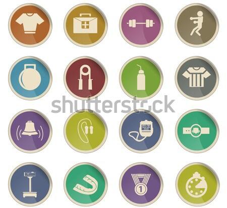 Boxe simplesmente ícones teia usuário Foto stock © ayaxmr