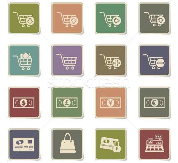 маркетинга электронной коммерции иконки веб пользователь Сток-фото © ayaxmr