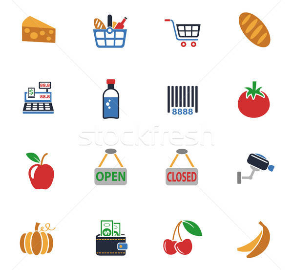 Bakkal web simgeleri kullanıcı arayüz dizayn Stok fotoğraf © ayaxmr