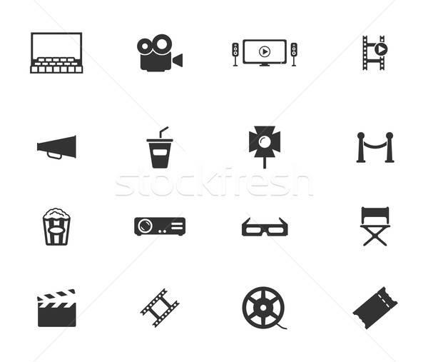 Cinema simply icons Stock photo © ayaxmr